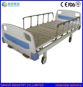 Hospital Ward General Use Manual Double Shake Medical Nursing Beds pictures & photos