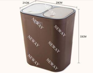 Hot Sales Double Lids Push Plastic Dustbin pictures & photos
