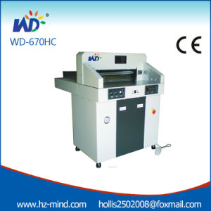 Professional Manufacturer Numerical Control Paper Cutter Hydraulic Paper Cutter Machine (WD-670HC) pictures & photos