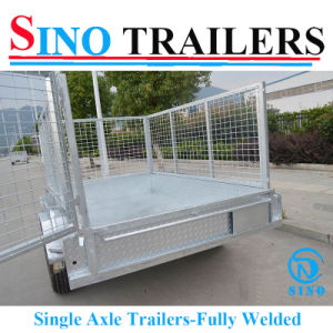 6X4 Fully Welded Single Axle Trailer pictures & photos