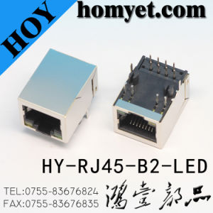Hot Selling RJ45 Socket with LED Light for Digital Products (HY-RJ45-B2-LED) pictures & photos