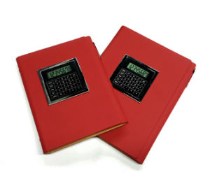 Red Leather Notebook with Counter pictures & photos