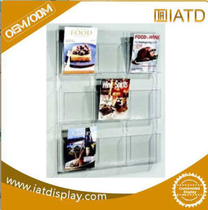 Custom Slotwall Clear Plexiglass Acrylic Magazine Shoe Display Holder pictures & photos