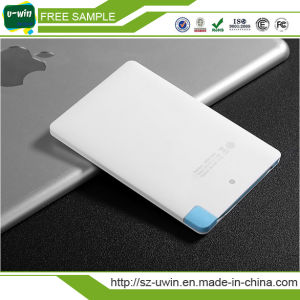 CE Certificate Credit Card 2600mAh Portable Power Bank pictures & photos