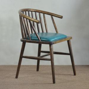 (SP-EC628) Commercial Rustic Wood Vintage Arm Chair for Restaurant pictures & photos