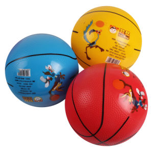 Wholesale Cheap Shiny PVC Custom Logo Print with Hand Paint Line Kings Sport Toys Ball Basketball