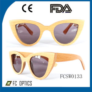 Best Design Mirrored Ebony Wooden Sunglasses pictures & photos
