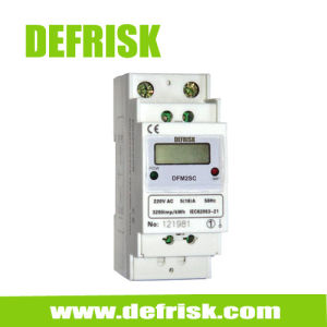 Single Phase DIN Rail Kilowatt Hour Meter 2 Modular, DIN Rail Meter Manufacturer
