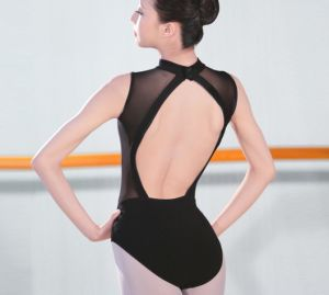 Adult Cotton Spandex Sleeveless Ballet Dance Leotard with Mesh Back pictures & photos