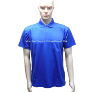 Blue Men′s Dry Fit Sports Polo T Shirt for Knitted Clothes pictures & photos