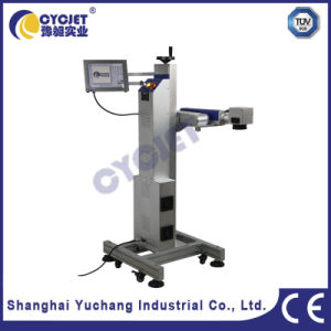 Gray PVC Pipe Flying Laser Marking Machine pictures & photos