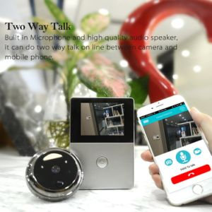 Color WiFi Ring Video Doorbell with Cameras and 2.8inch HD Screen Monitor pictures & photos