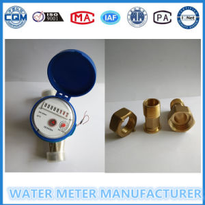 Brass Body Water Flow Meter with Brass Connectors pictures & photos