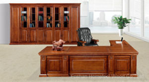 Classical Solid Wood Office Executive Boss Table Furniture (HF-YM8A06) pictures & photos