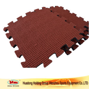 Interlocking Rubber Tile Sport Flooring Mat for Playground pictures & photos
