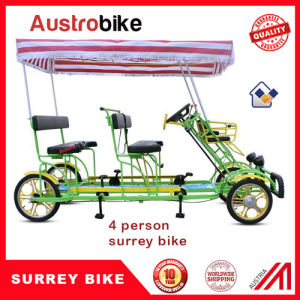 4 Person Surrey Bike with 2 Person Trailer pictures & photos