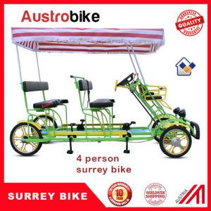 4 Person Surrey Bike with 2 Person Trailer