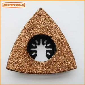 Multi Function Power Tool Accessory Triangular Carbide Grit Grinding Saw Blade Rasp pictures & photos