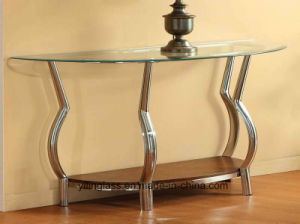 Rectangle, Oval, Curved Glass Top for Living Room Table pictures & photos
