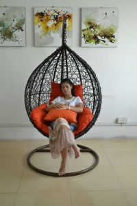 Outdoor & Indoor Rattan Hanging Chair with Stand
