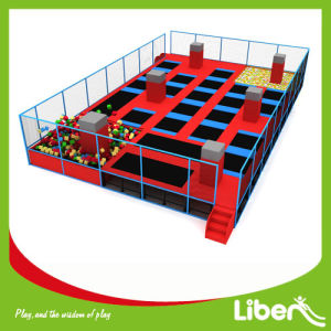 Customized Big Indoor Big Gymnastic Trampoline Park with Basketball Hoops pictures & photos