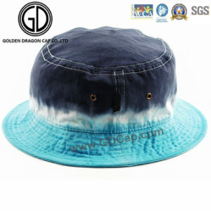 Top Quality Green Camo Sun Bucket Hat with Embroidery Badge pictures & photos
