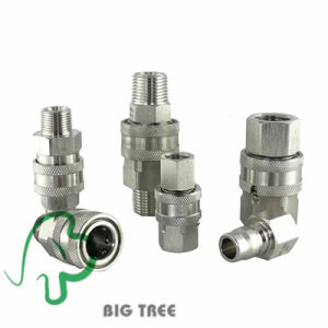 Stailess Steel None Valve Pneumatic Coupling Hydraulic Quick Coupler pictures & photos