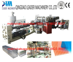 UV Coating Twin Wall Polycarbonate PC Hollow Sheet Extrusion Machine pictures & photos