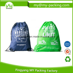 Custom Print Shopping Drawstring Non Woven Promotion Bag pictures & photos