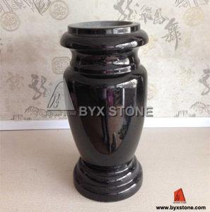 Black Granite Cemetery Stone Flower Vase pictures & photos