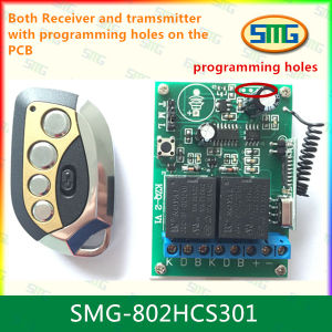 Smg-802hcs301 12V Rolling Code 2CH Remote Controller with Programming Pads