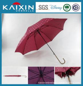 ISO 9001 Long Handle Windproof Straight Umbrella