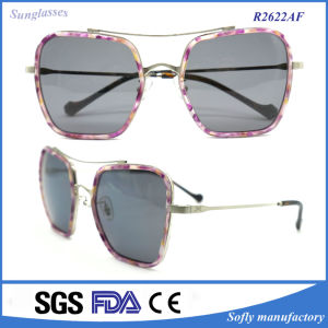Super Fashion Mirrored Sunglasses Metal Frame with Unique Lens pictures & photos