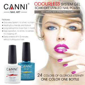 #30917W Canni New 2016 Wholesale Odourless System Gel Polishes Soak off LED UV Gel Lacquer 24 Color Gel Varnish Gel Nail Polish