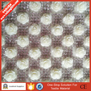 2016 Tailian Hot Fix Newest Rose Design Crystal Mesh pictures & photos