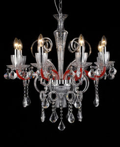Modern Red Glass Chandelier Lamp (11005-8L) pictures & photos
