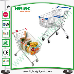 Super Market Shopping Trolley Cart with Good Wheels pictures & photos