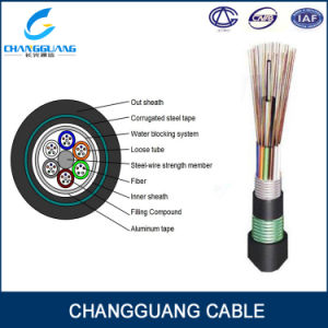 Factory Supply Aerial Overhead 6 Core Fiber Optic Cable GYTA53 pictures & photos