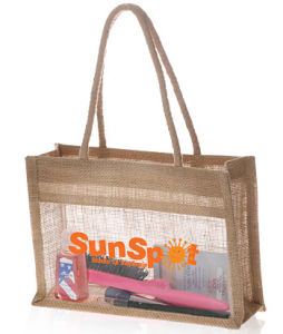 Screen Printing Logo Jute Cosmetic Bag (PA-031) pictures & photos