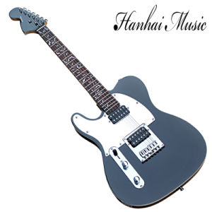Hanhai Music / Tele Left-Handed Black Electric Guitar with Mirror Surface Pickguard pictures & photos