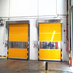 Industrial PVC High Speed Rolling Shutter Doors (HF-1041) pictures & photos