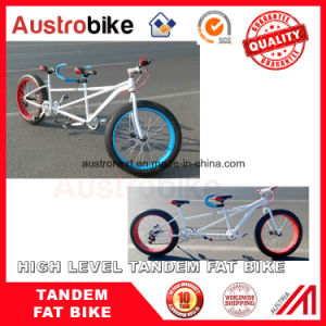 26 Inch Tandem Fat Bike Fat Tire Double Seat Bike Two Person Bike Fat Tire pictures & photos