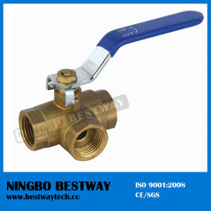 Brass Three Way Ball Valve Price (BW-B09) pictures & photos