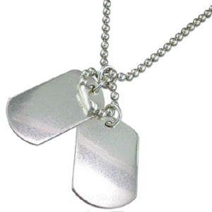 Wholesale Metal Blank Stailess Steel Dog Tag for Engrave (w-16) pictures & photos