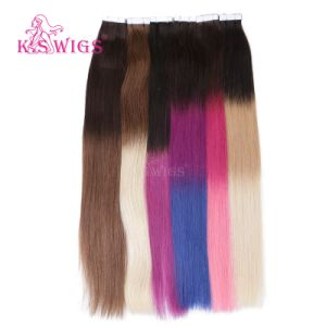 K. S Wigs Top Quality 6A Tape Hair Extension 100% Human Hair Extension pictures & photos
