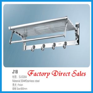 Stainless Steel Bathroom Towel Rack (J18) pictures & photos