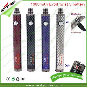 2015 Evod VV Battery/1600mAh Evod Twist 2/Evod Twist 3 with Micro Passthrough in Stock pictures & photos