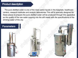 Laboratory Water Distillation Apparatus 5L 10L 20L pictures & photos