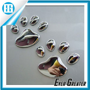 3D Adhesive Car Stickers Badge Bear Footprint Shape pictures & photos