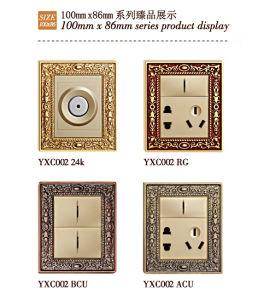 24k Gold Plated Brass Wall Socket with Switch pictures & photos